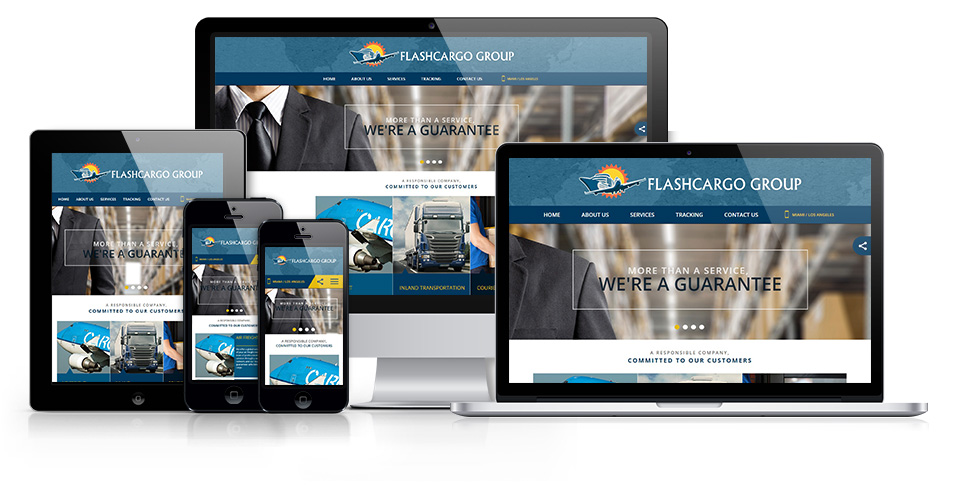 International freight company, mobile optimized websites
